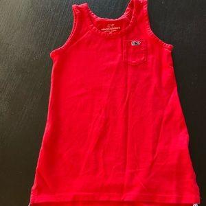 Vineyard Vines Red Tank Dress 2T